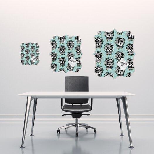 DENY Designs Andi Bird Sugar Skull Fun Quatrefoil Memo Board