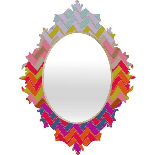 DENY Designs Sharon Turner Geo Chevron Baroque Wall Mirror