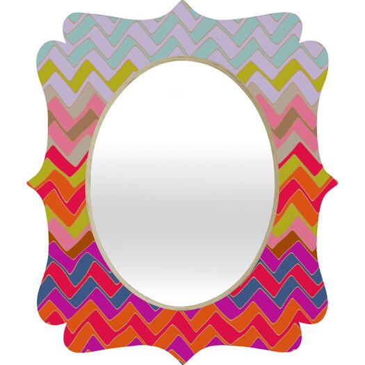 DENY Designs DENY Sharon Turner Geo Chevron Quatrefoil Mirror