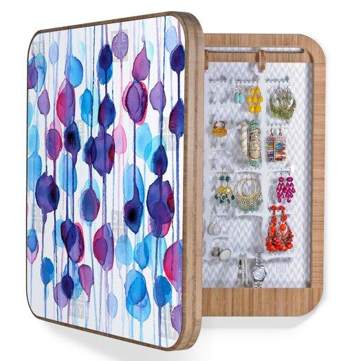 DENY Designs CMYKaren Abstract Watercolor Jewelry Box