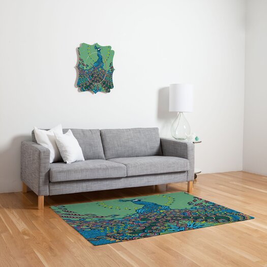 DENY Designs Geronimo Studio Peacock 1 Novelty Rug