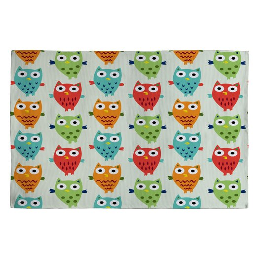 DENY Designs Andi Bird Owl Fun Kids Rug