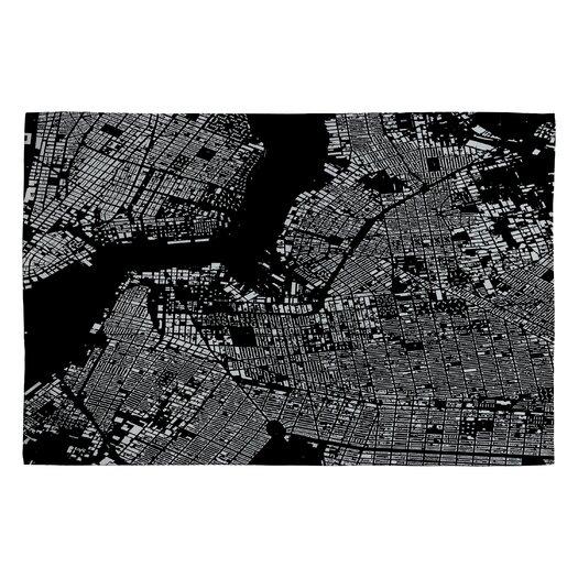 DENY Designs Cityfabric Inc Black Brooklyn Novelty Rug