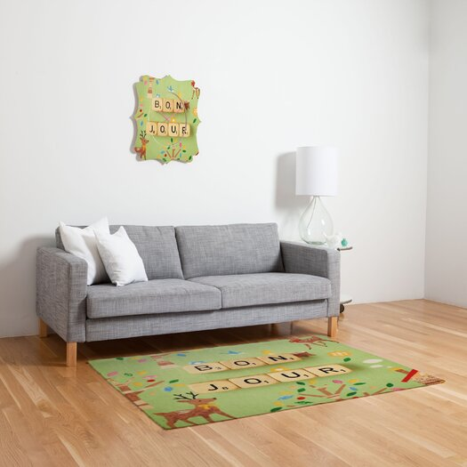 DENY Designs Happee Monkee Bonjour Kids Rug