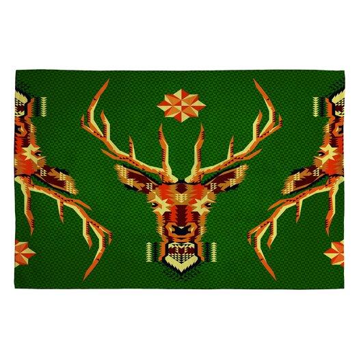 DENY Designs Chobopop Geometric Deer Novelty Rug