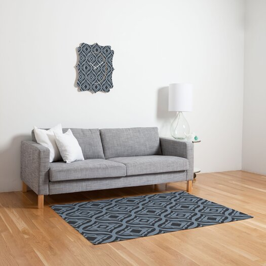 DENY Designs Heather Dutton Dusk Trevino Black/Gray Geometric Area Rug