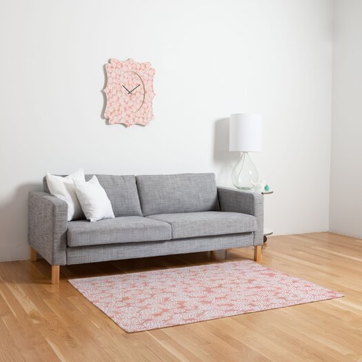 DENY Designs Joy Laforme Dahlias Pink Area Rug