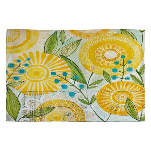 DENY Designs Cori Dantini Sun Burst Flowers Novelty Rug