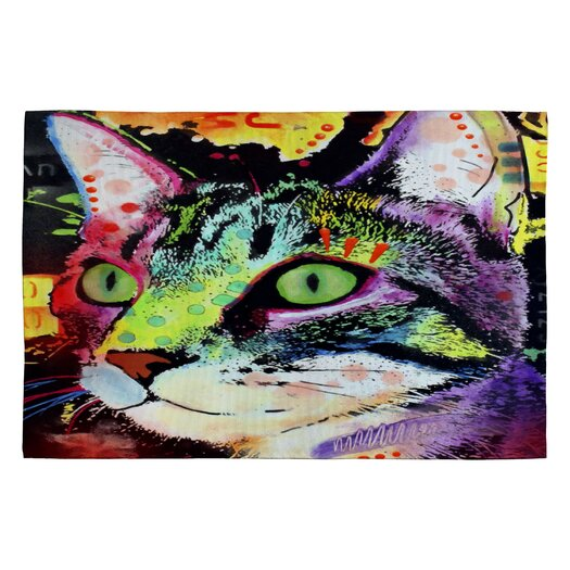DENY Designs Dean Russo Curiosity Cat Novelty Rug