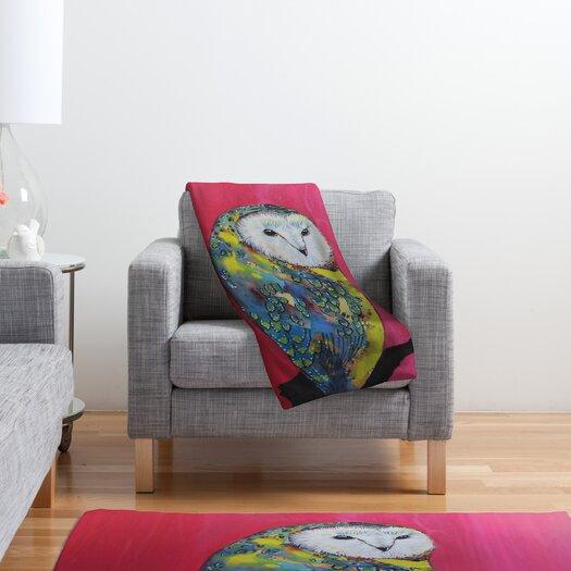 DENY Designs Clara Nilles Owl On Lipstick Polyester Fleece Throw Blanket