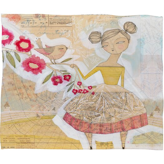 DENY Designs Cori Dantini The Secret To Happiness Polyester Fleece Throw Blanket