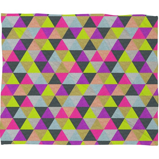 DENY Designs Bianca Green Ocean of Pyramid Polyester Fleece Throw Blanket