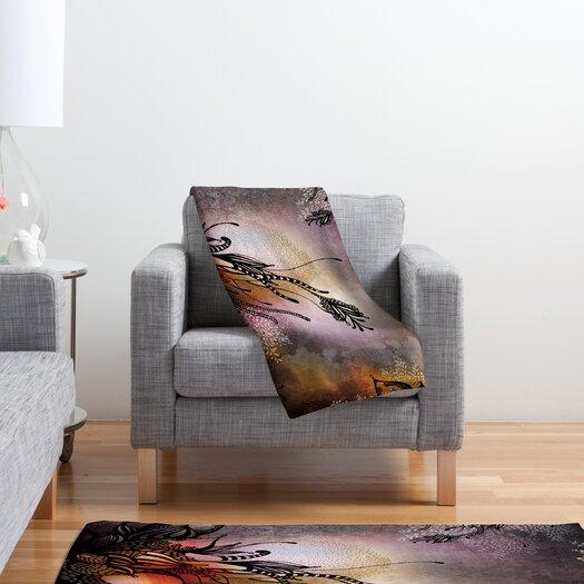 DENY Designs Iveta Abolina Purple Rain Polyester Fleece Throw Blanket