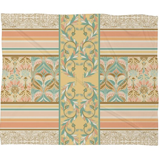 DENY Designs Jacqueline Maldonado Vintage Stripe Polyester Fleece Throw Blanket