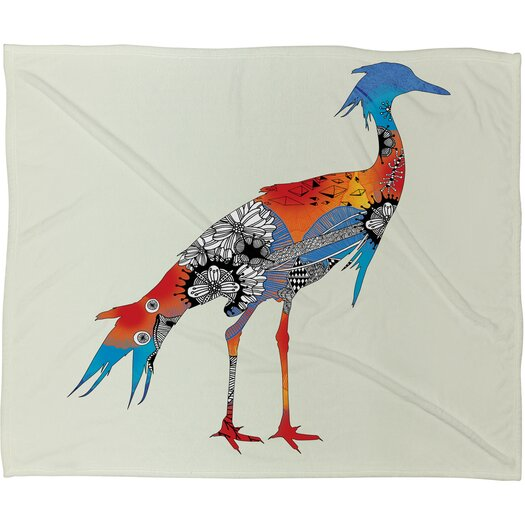 DENY Designs Iveta Abolina Bluebird Polyester Fleece Throw Blanket