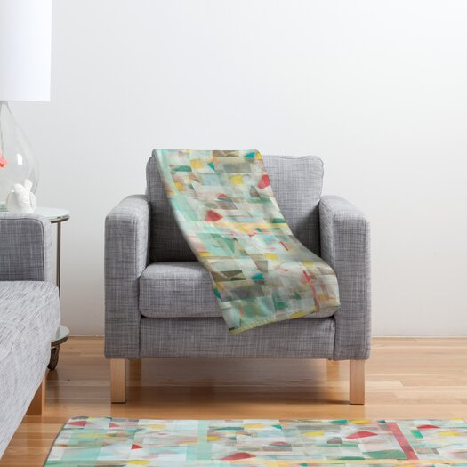 DENY Designs Jacqueline Maldonado Mosaic Polyester Fleece Throw Blanket