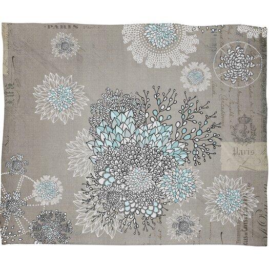 DENY Designs Iveta Abolina French Blue Polyester Fleece Throw Blanket