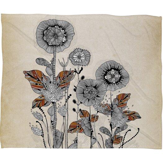 DENY Designs Iveta Abolina Floral 3 Polyester Fleece Throw Blanket