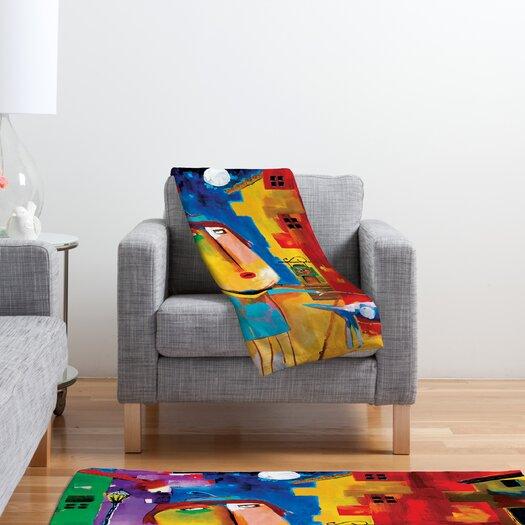 DENY Designs Robin Faye Gates Sylvia Needs Eggs Polyester Fleece Throw Blanket