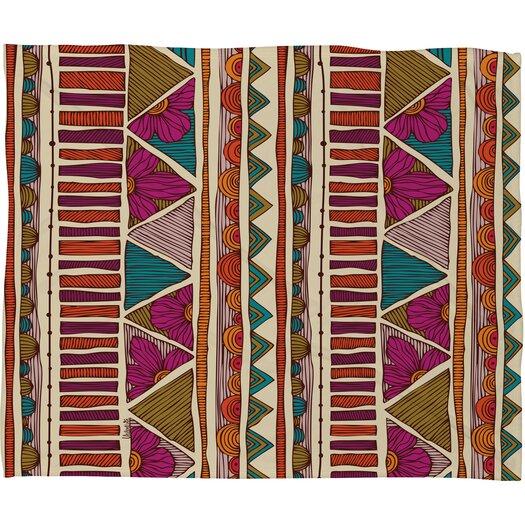 DENY Designs Valentina Ramos Ethnic Stripes Polyester Fleece Throw Blanket