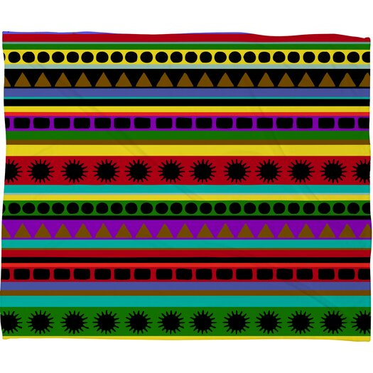 DENY Designs Romi Vega Heavy Pattern Polyester Fleece Throw Blanket