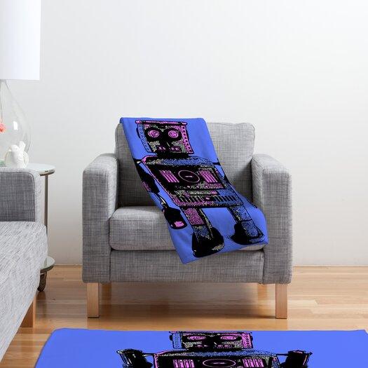 DENY Designs Romi Vega Lantern Robot Polyester Fleece Throw Blanket