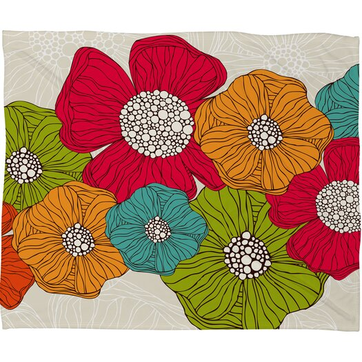 DENY Designs Valentina Ramos Flowers Polyester Fleece Throw Blanket