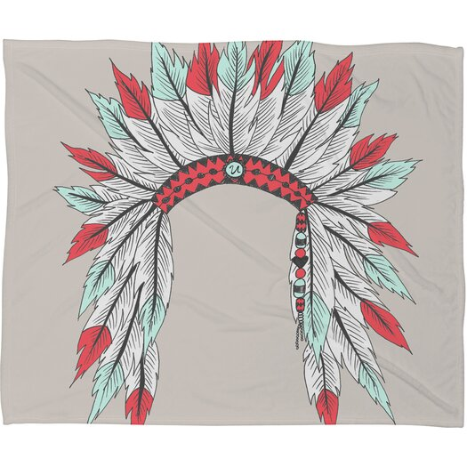 DENY Designs Wesley Bird Dressy Polyester Fleece Throw Blanket