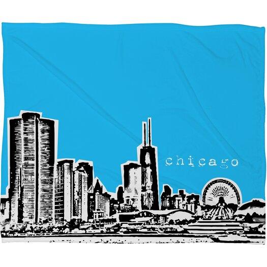 DENY Designs Bird Ave Chicago Polyester Fleece Throw Blanket