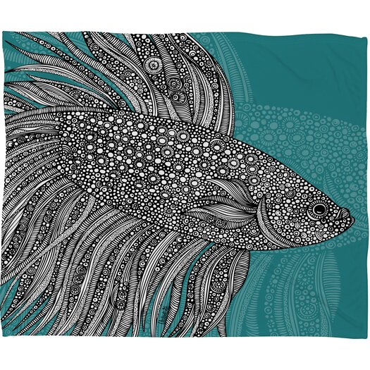 DENY Designs Valentina Ramos Beta Fish Polyester Fleece Throw Blanket