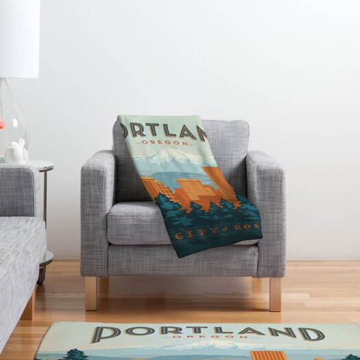 DENY Designs Anderson Design Group Portland Polyester Fleece Throw Blanket