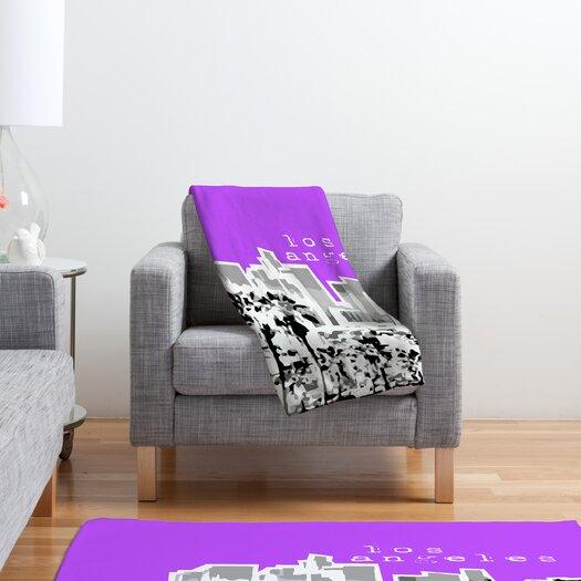 DENY Designs Bird Ave Los Angeles Polyester Fleece Throw Blanket
