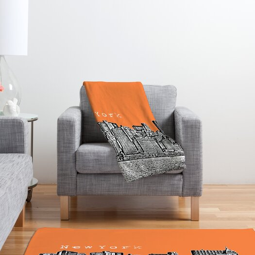 DENY Designs Bird Ave New York Polyester Fleece Throw Blanket