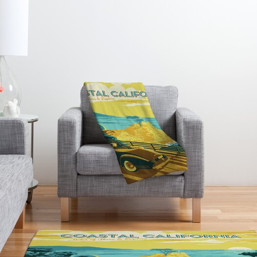 DENY Designs Anderson Design Group Coastal California Polyester Fleece  Throw Blanket