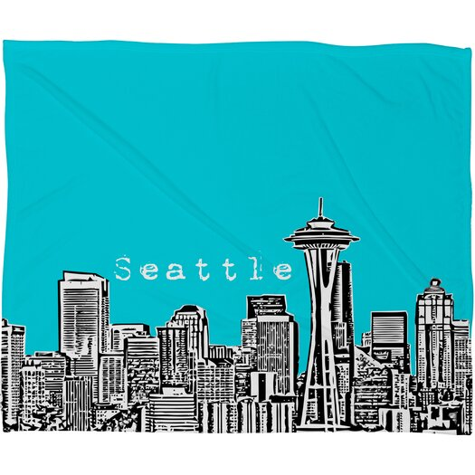 DENY Designs Bird Ave Seattle Polyester Fleece Throw Blanket