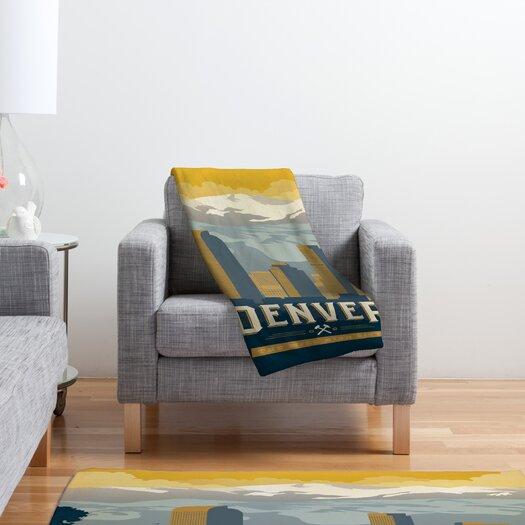 DENY Designs Anderson Design Group Denver 1 Polyester Fleece  Throw Blanket