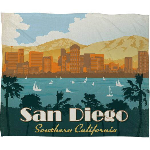 DENY Designs Anderson Design Group San Diego Polyester Fleece Throw Blanket