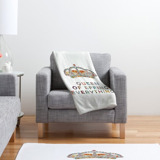 DENY Designs Bianca Green Her Daily Motivation Throw Blanket
