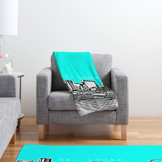 DENY Designs Bird Ave St Louis Polyester Fleece Throw Blanket