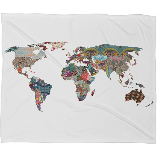 DENY Designs Bianca Green Louis Armstrong Told Us So Polyester Fleece Throw Blanket