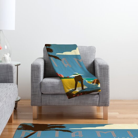 DENY Designs Anderson Design Group Miami Polyester Fleece  Throw Blanket