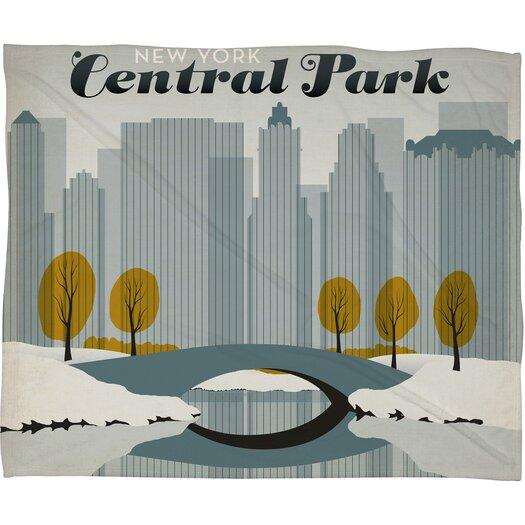 DENY Designs Anderson Design Group Central Park Snow Polyester Fleece  Throw Blanket