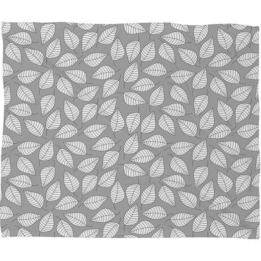 DENY Designs Bianca Green Leafy Polyester Fleece Throw Blanket
