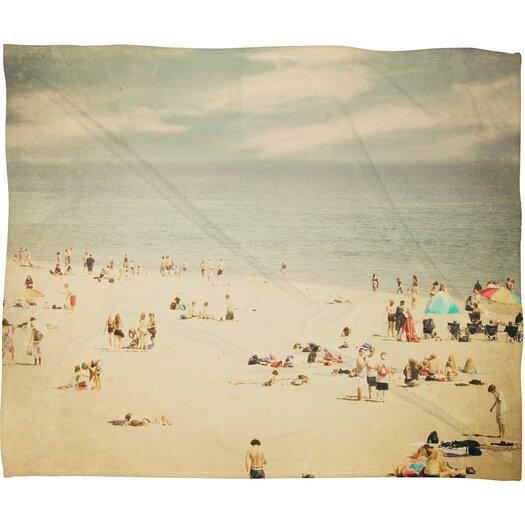DENY Designs Shannon Clark Vintage Beach Polyester Fleece Throw Blanket