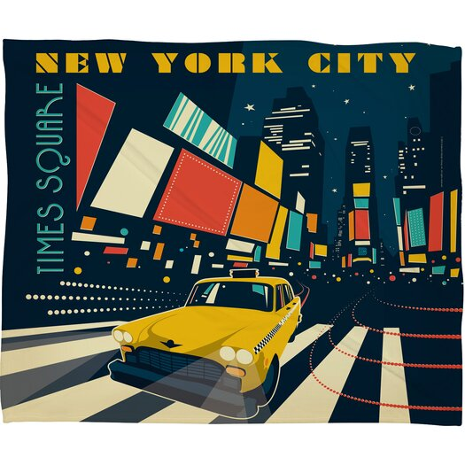 DENY Designs Anderson Design Group NYC Times Square Polyester Fleece Throw Blanket
