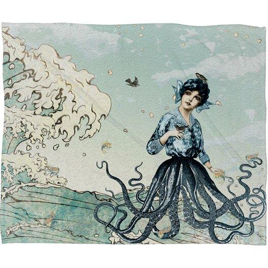 DENY Designs Belle13 Sea Fairy Polyester Fleece Throw Blanket