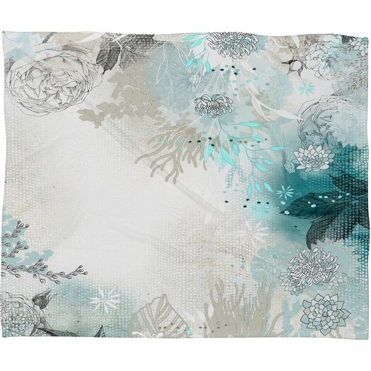 DENY Designs Iveta Abolina Seafoam Polyester Fleece Throw Blanket