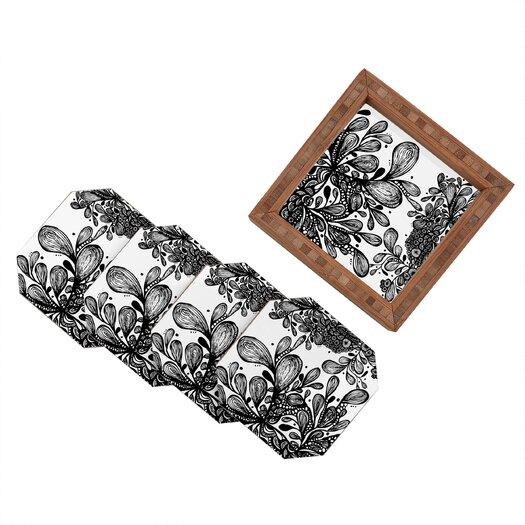 DENY Designs Julia Da Rocha Wild Leaves Coaster