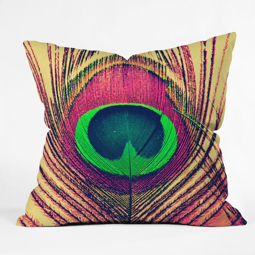 DENY Designs Shannon Clark Peacock 2 Throw Pillow