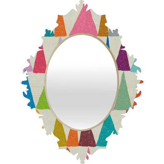 DENY Designs Nick Nelson Analogous Shapes in Bloom Baroque Mirror